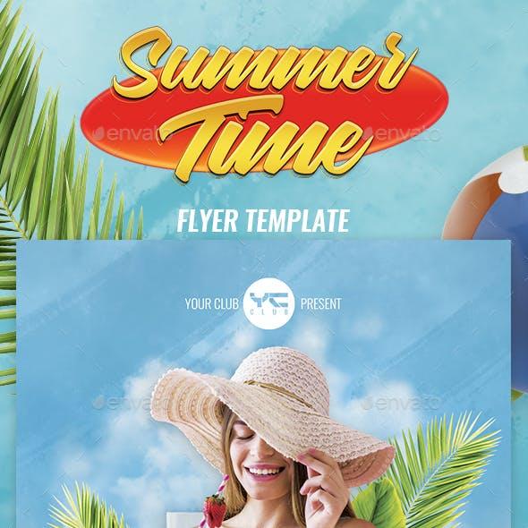 Summer Time 2018 Flyer Template