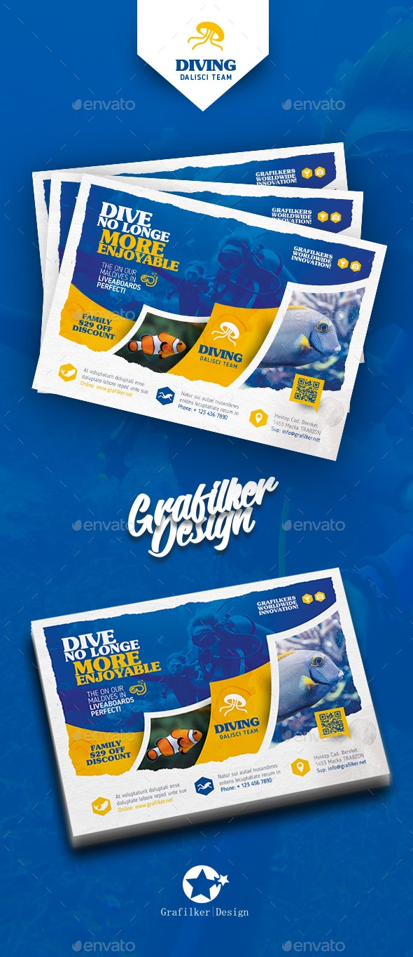 Ocean Diving Flyer Templates - Corporate Flyers