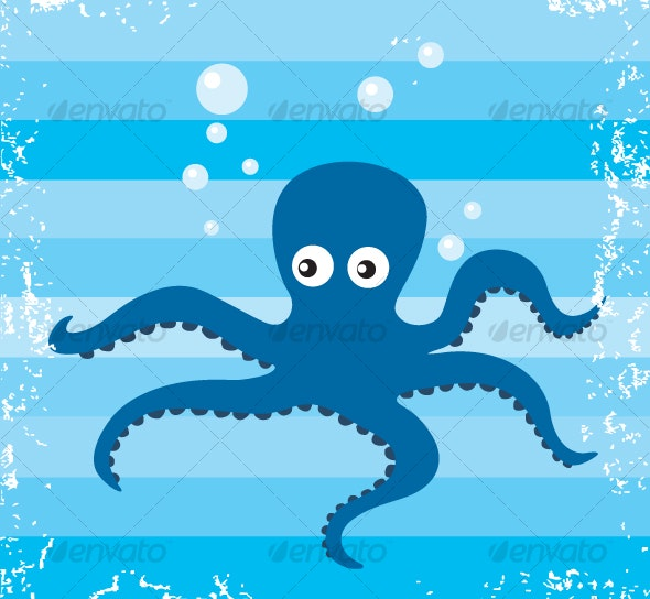 Vector Octopus - Animals Characters