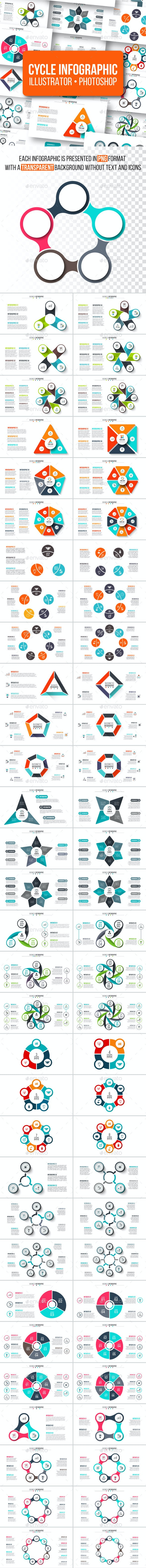 Cycle infographic pack - Infographics