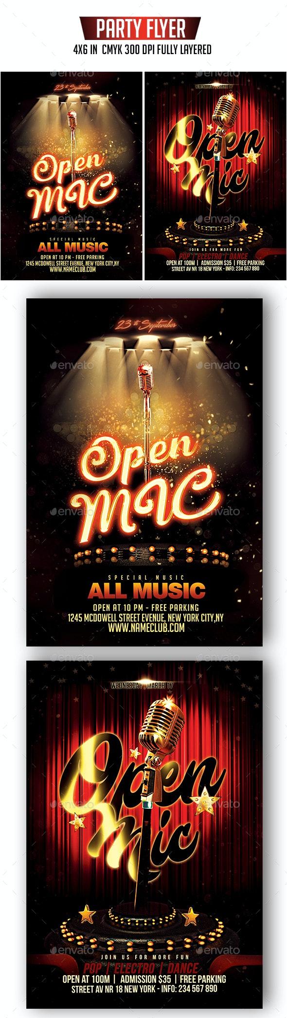 Open Mic Flyer Bundle - Clubs & Parties Events