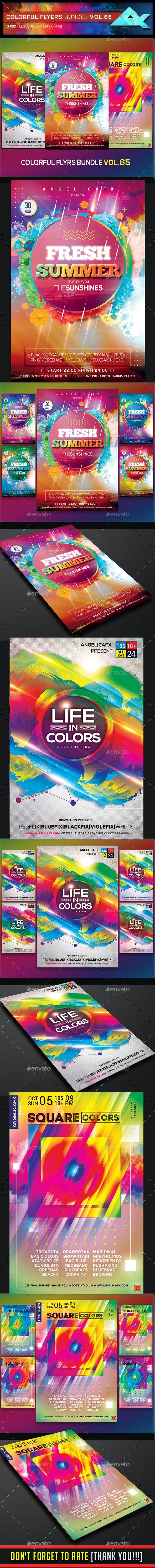 Colorful Flyers Bundle Vol. 65 - Flyers Print Templates