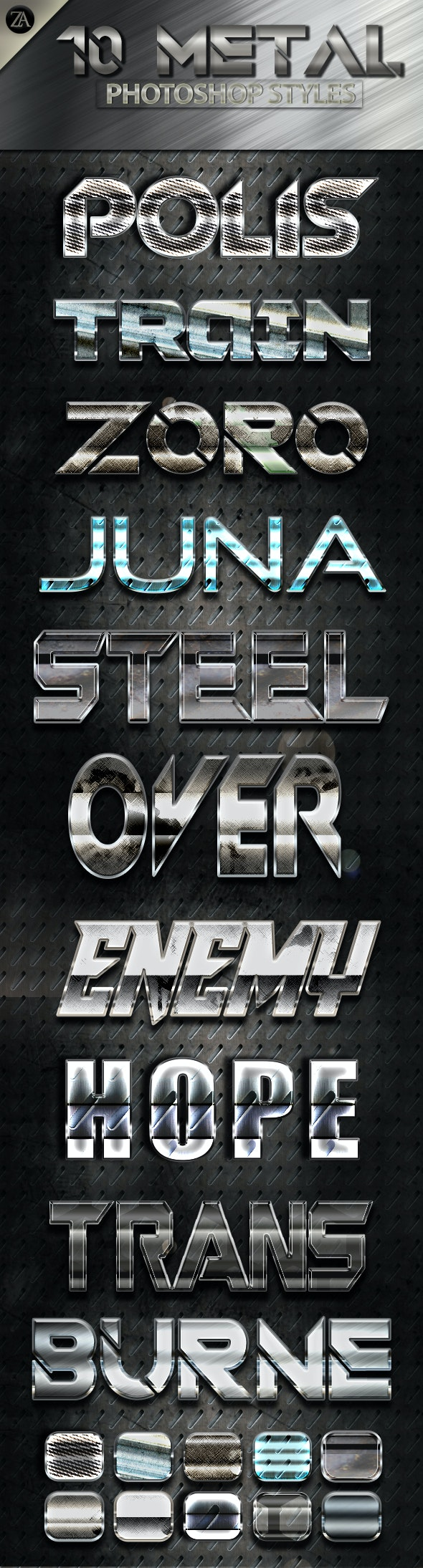 Metal Shiny v4 - Text Effects Styles