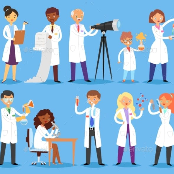 Scientist Vector Professional People Character