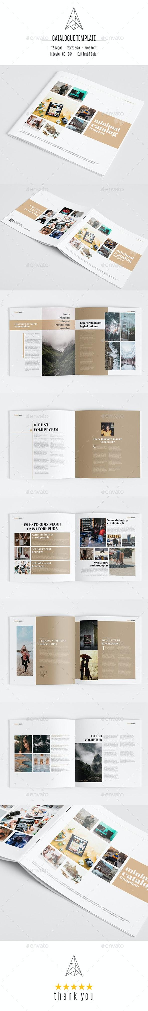Minimal Catalog Template - Catalogs Brochures