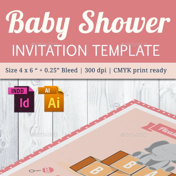 Baby Shower Template - Vol. 22