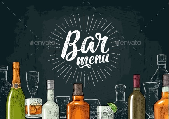 Template for Bar Menu Alcohol Drink - Backgrounds Business