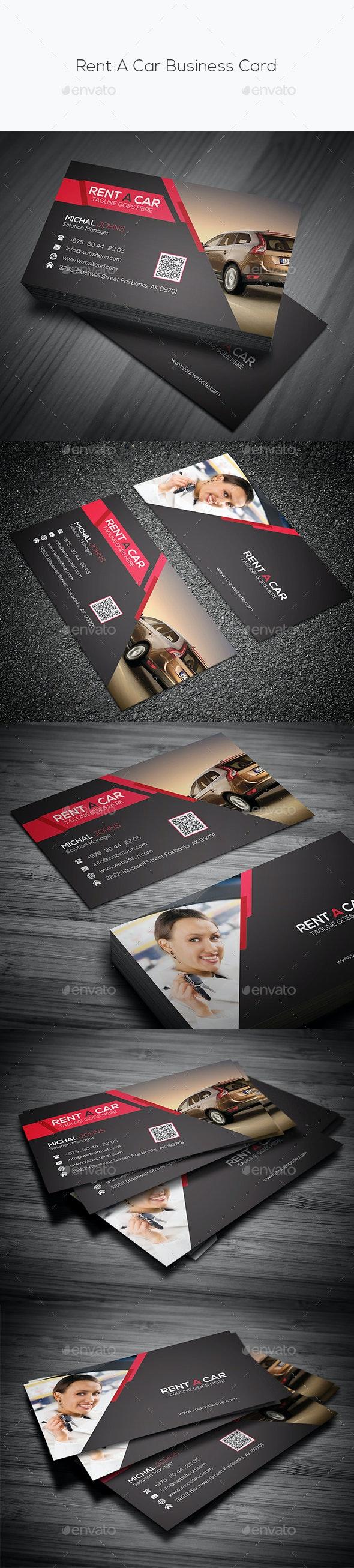 Rent A Car Business Card - Business Cards Print Templates