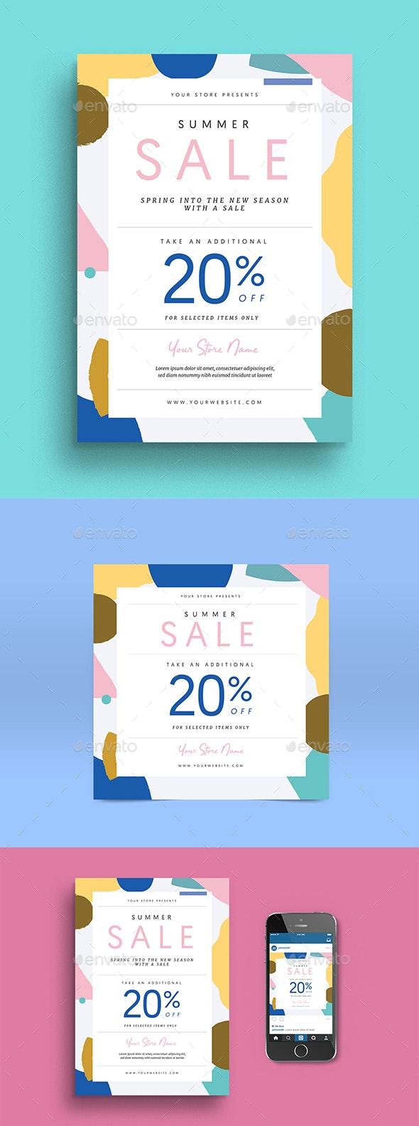 Summer Fashion Sale Flyer + Instagram Post - Commerce Flyers
