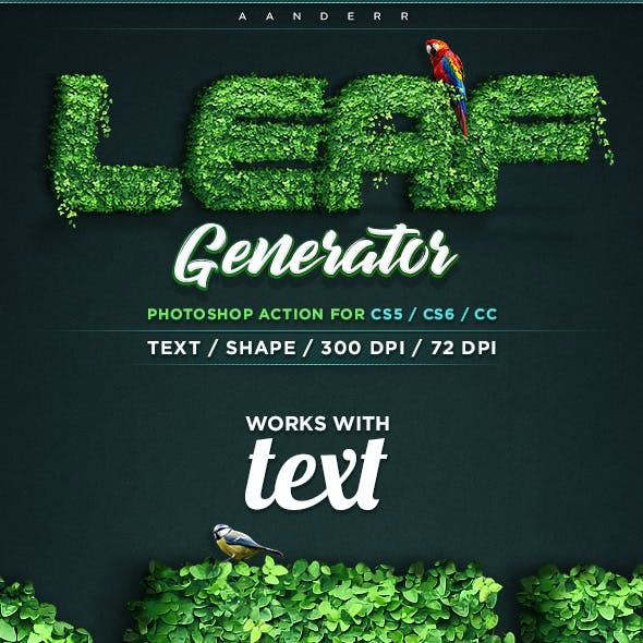 Leaf Generator Photoshop Action