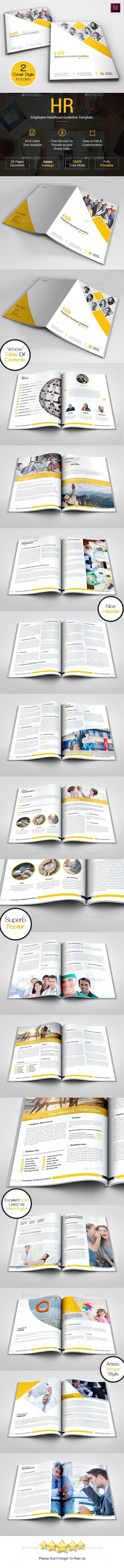 HR - Employee Handbook Guideline Portrait Template - Informational Brochures