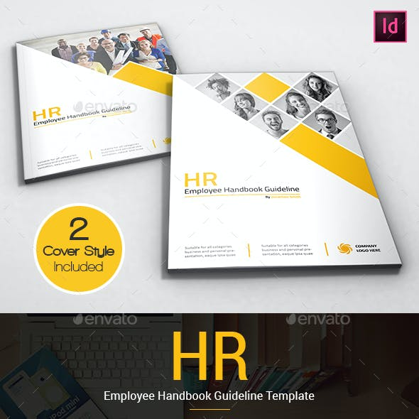 HR - Employee Handbook Guideline Portrait Template