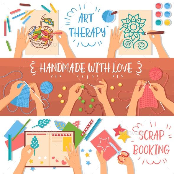 Handmade Banners Set - Miscellaneous Vectors
