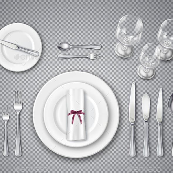 Table Setting Transparent Set