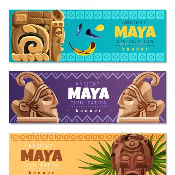 Maya Civilization Horizontal Banners