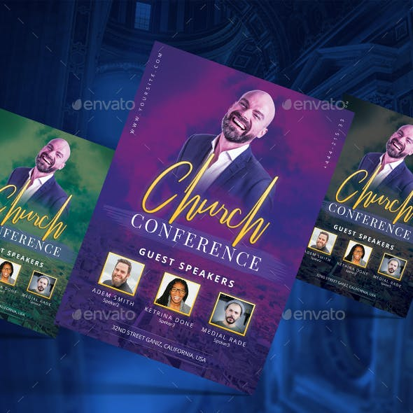 Top- Church Flyer Template