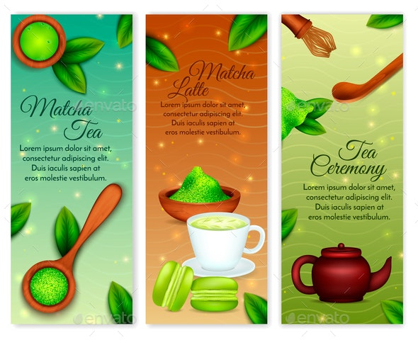 Matcha Vertical Banners - Food Objects