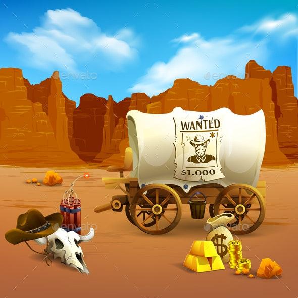 Wild West Illustration - Landscapes Nature