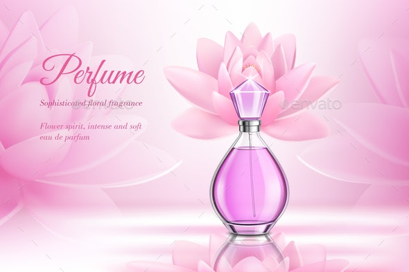 Perfume Product Rose Composition - Backgrounds Decorative