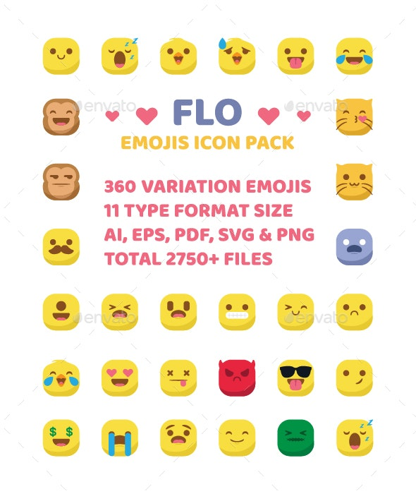 360 Emoji Icon Set - Icons