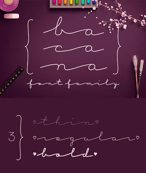 Bacana Font Family - Cursive Script