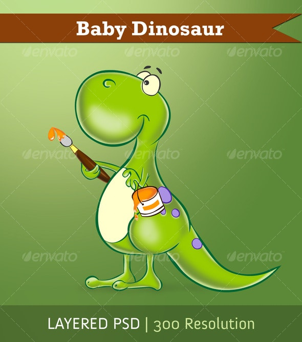 Baby Dinosaur - Animals Illustrations
