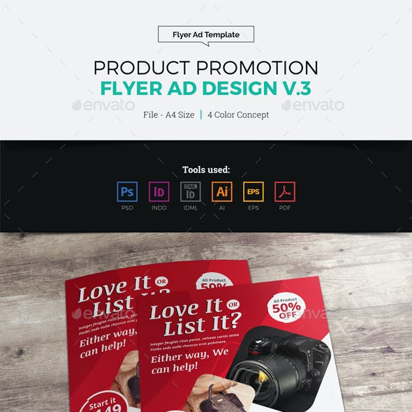 Product Sale Promotion Flyer Ad Design v3