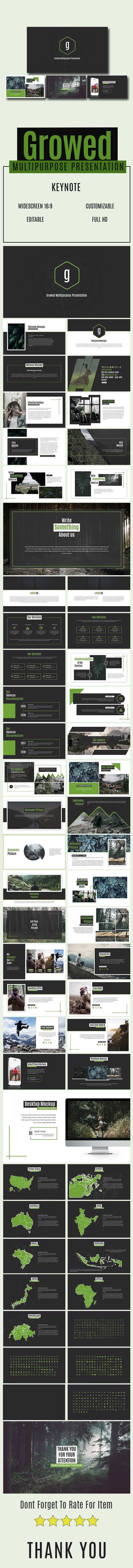 Growed Multipurpose Presentation - Abstract Keynote Templates