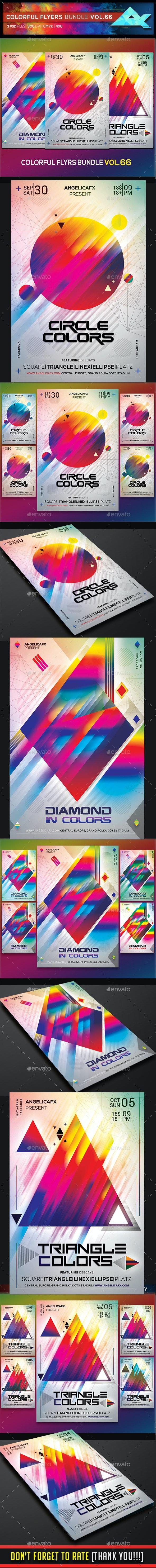 Colorful Flyers Bundle Vol. 66 - Events Flyers