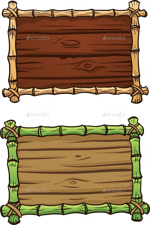 Bamboo Frames - Borders Decorative