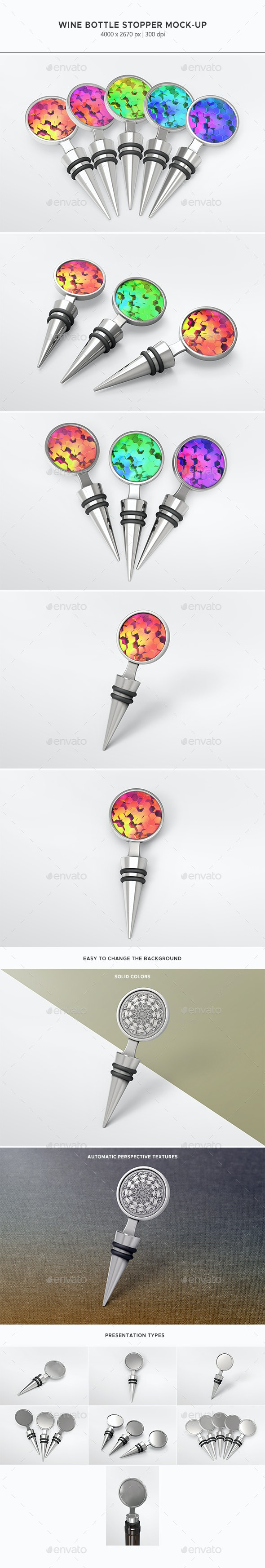 Wine Bottle Stopper Mock-up - Food and Drink Packaging