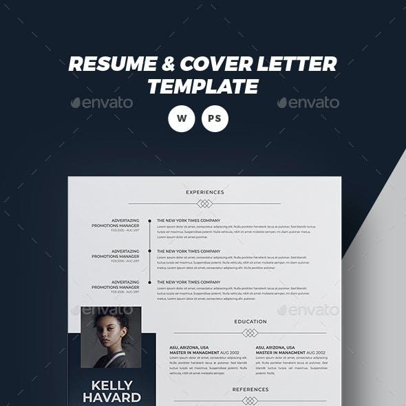 Word Cv/Resume Template - KELLY -
