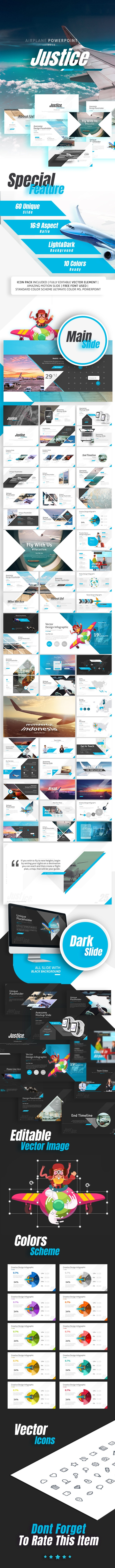 Justice Airplane Presentation By Rrgraph Graphicriver