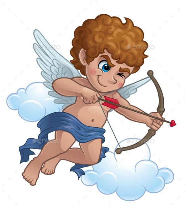 Cupid with a Bow and Arrow - People Characters