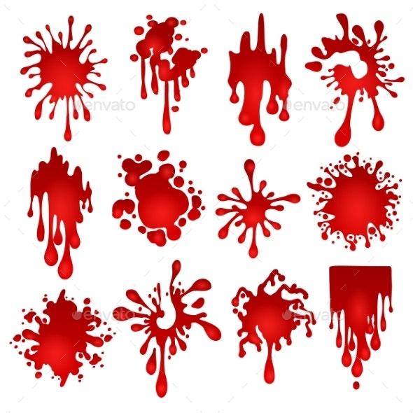 Blood Blots Set - Miscellaneous Vectors