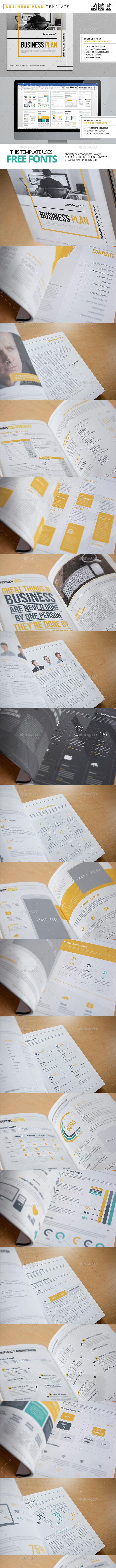 40 Pages Business Plan Template A4 / US Letter - Proposals & Invoices Stationery