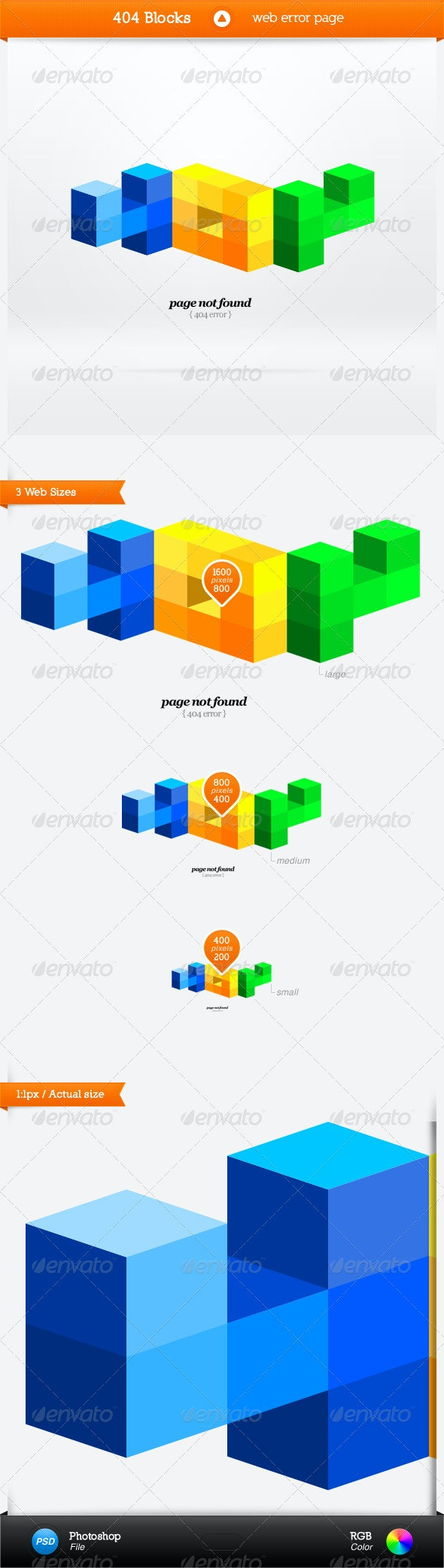 404 Blocks - error page - 404 Pages Web Elements