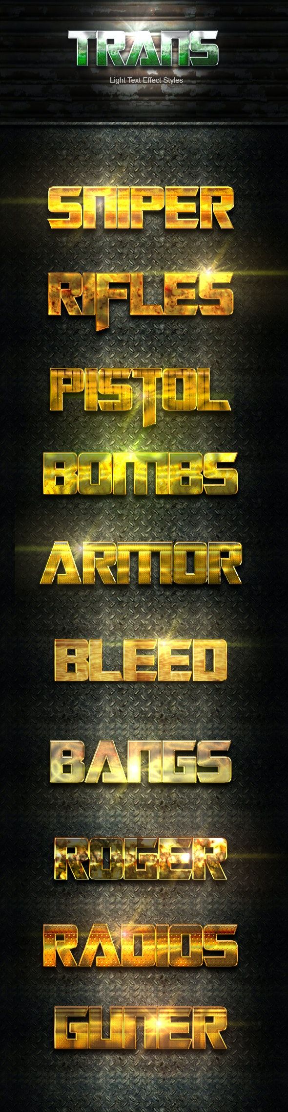 10 Photoshop Gold Text Effect Styles - Text Effects Styles