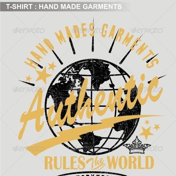 Hand Made Garments Print