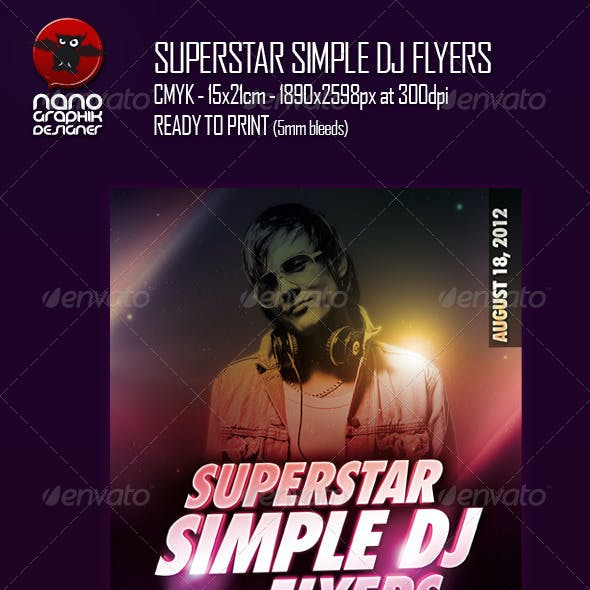 Superstar Simple DJ Flyers