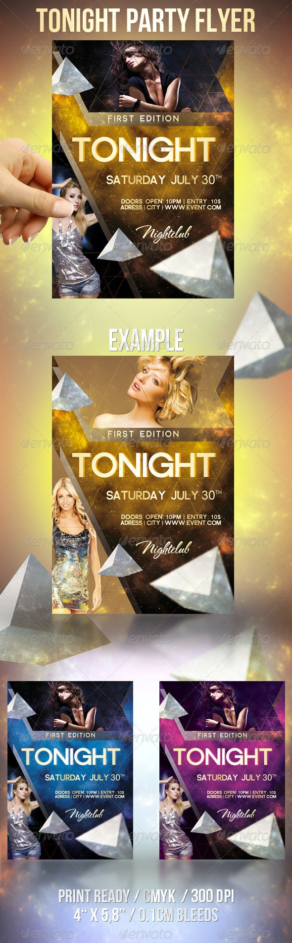 Tonight Party Flyer - Clubs & Parties Events