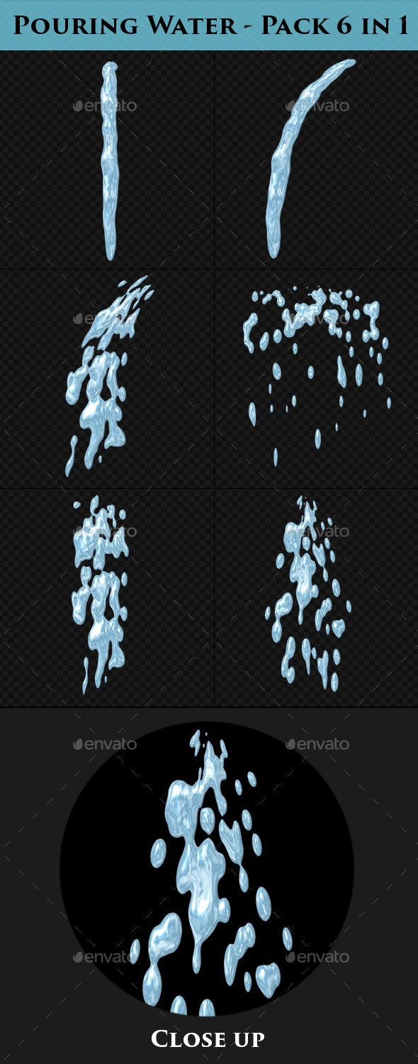 Pouring Water - Cartoon Style - Miscellaneous Backgrounds