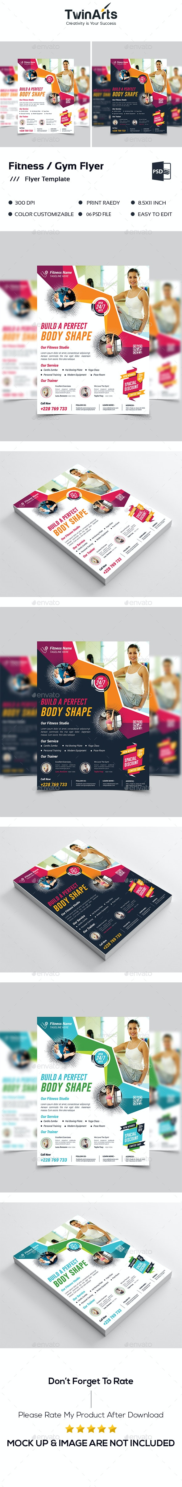 Fitness Flyer / Gym Flyer - Flyers Print Templates