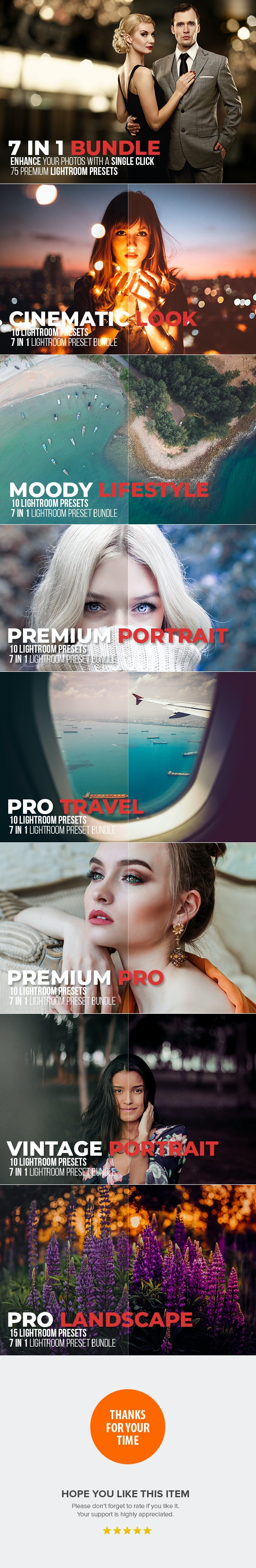 7 IN 1 Lightroom Presets Bundle - Lightroom Presets Add-ons