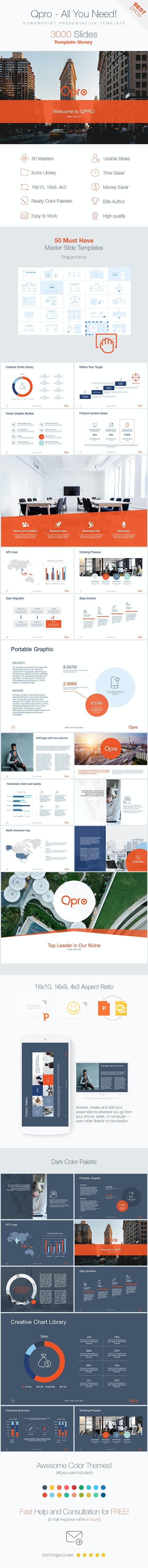 Qpro 3000 - Powerpoint Presentation Template - Business PowerPoint Templates