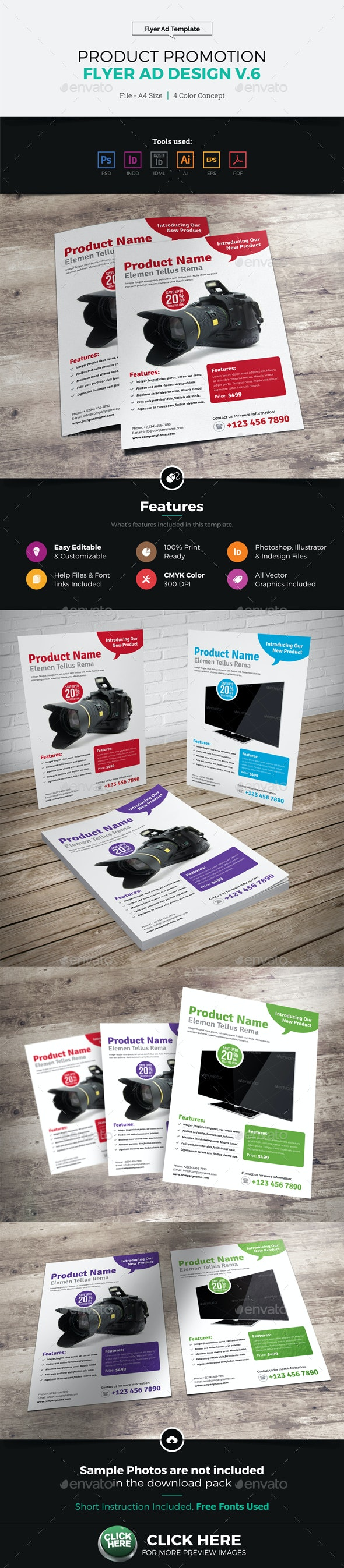 Product Sale Promotion Flyer Ad Design v6 - Corporate Flyers