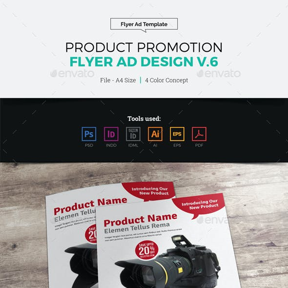 Product Sale Promotion Flyer Ad Design v6