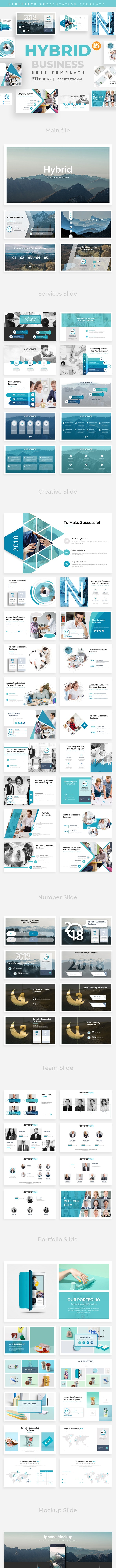 Hybrid Pitch Deck Business Powerpoint Template - Business PowerPoint Templates