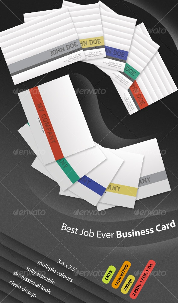 Job Business Card - Corporate Business Cards