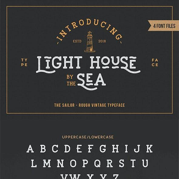 Lighthouse - Sailor Vintage Textured Font